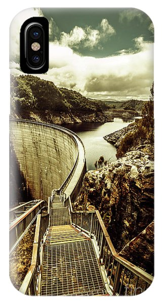 No People iPhone Case - Vibrant River Dam by Jorgo Photography - Wall Art Gallery