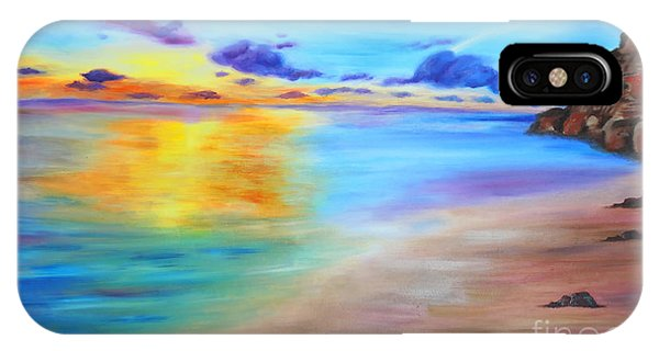 Rocky Sunset Shore IPhone Case
