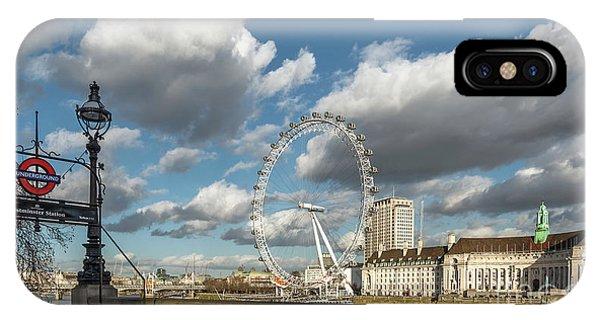 London Eye iPhone Case - Victoria Embankment by Adrian Evans