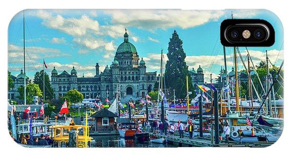 Victoria Harbor Boat Festival IPhone Case