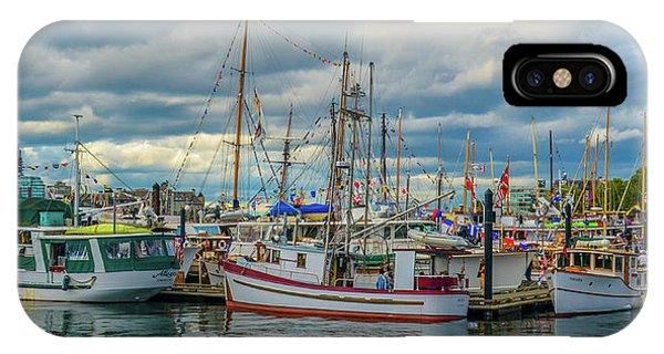 Victoria Harbor Boats IPhone Case
