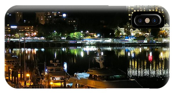 Victoria Inner Harbor At Night IPhone Case