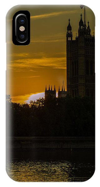 Victoria Tower In London Golden Hour IPhone Case