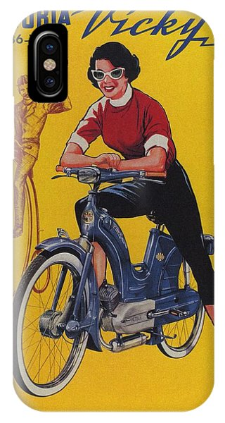 Advertising iPhone Case - Victoria Vicky Iv - Motorcycle - Vintage Advertising Poster by Studio Grafiikka