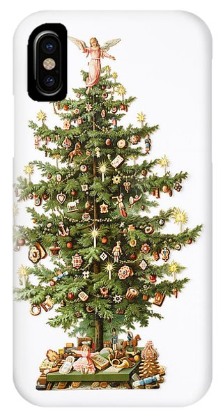 Christmas Tree iPhone Case - Victorian Christmas Card by English School