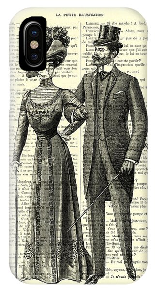 Cupid iPhone Case - Victorian Couple by Madame Memento