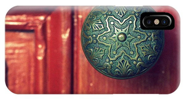 Timeworn iPhone Case - Victorian Door Handle by Joseph Skompski