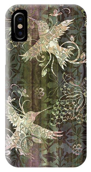 Hummingbird iPhone Case - Victorian Hummingbird Green by JQ Licensing
