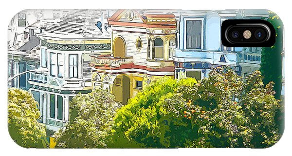 Victorian Painted Ladies Houses In San Francisco California IPhone Case