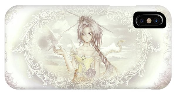 IPhone Case featuring the mixed media Victorian Princess Altiana by Shawn Dall