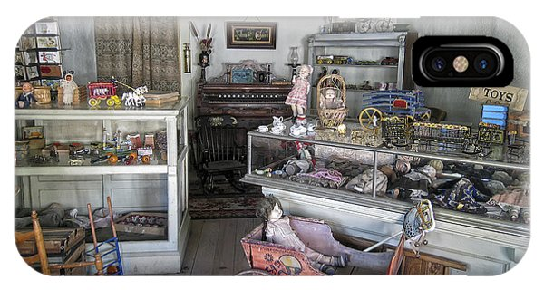 Toy Shop iPhone Case - Victorian Toy Shop - Virginia City Montana by Daniel Hagerman