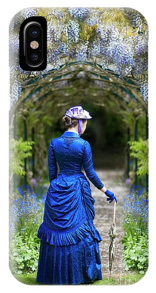 Victorian Woman With Wisteria IPhone Case