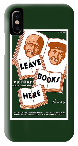 School iPhone Case - Victory Book Campaign - Wpa by War Is Hell Store