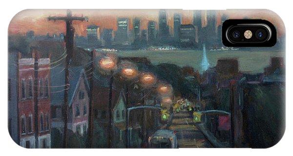 Manhattan Skyline iPhone Case - Victory Boulevard At Dawn by Sarah Yuster