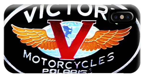iPhone Case - Victory Motorcycles Emblem by Bill Cannon