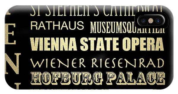 IPhone Case featuring the digital art Vienna Austria Famous Landmarks by Patricia Lintner