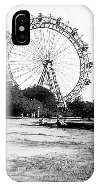 iPhone Case - Viennese Giant Wheel by Johannes Margreiter