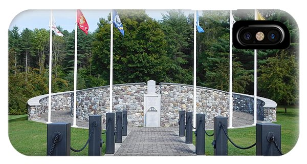 Vietnam Memorial In Vermont IPhone Case