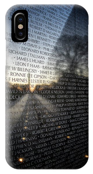 IPhone Case featuring the photograph Vietnam Memorial by Ryan Wyckoff