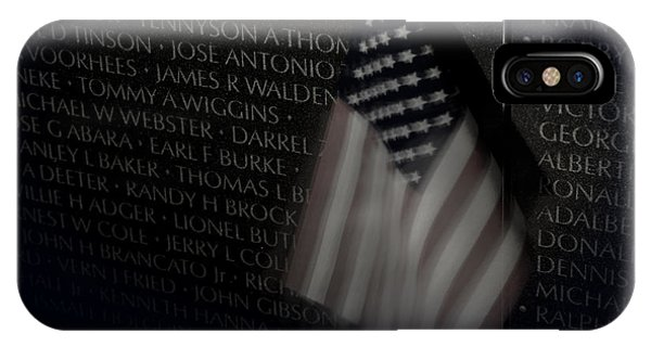 Vietnam Memrial Wall With Us Flag IPhone Case