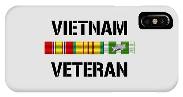 Bar iPhone Case - Vietnam Veteran Ribbon Bar - Two by War Is Hell Store