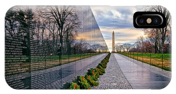 Vietnam War Memorial, Washington, Dc, Usa IPhone Case