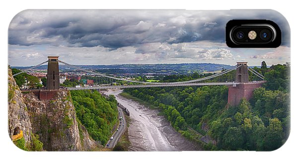 IPhone Case featuring the photograph view at Bristol bridge  by Ariadna De Raadt