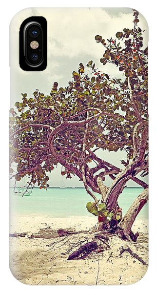 View At The Ocean With Boats In The Water IPhone Case