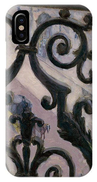 French Painter iPhone Case - View From A Balcony by Gustave Caillebotte