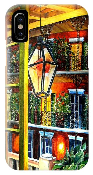 French Impressionism iPhone Case - View From A French Quarter Balcony by Diane Millsap