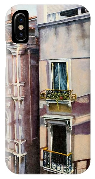 View From A Venetian Window IPhone Case