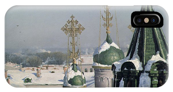View From A Window Of The Moscow School Of Painting IPhone Case