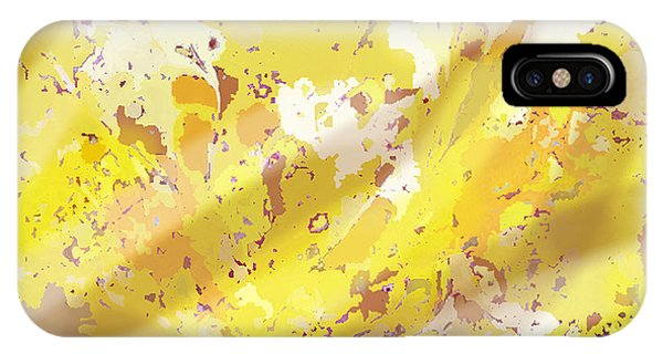 View From Above In Yellow IPhone Case