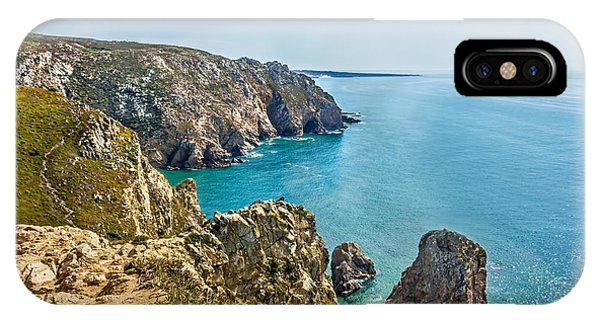 View From Cabo Da Roca - The Western Point Of Continental Europe Phone Case by Dragomir Nikolov