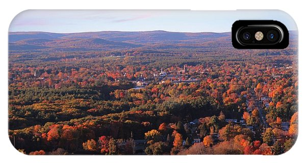 View From Mount Tom In Easthampton, Ma IPhone Case