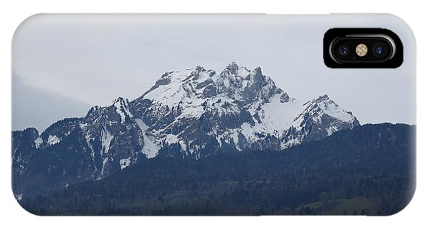 View From My Art Studio - Pilatus - March 2018 IPhone Case