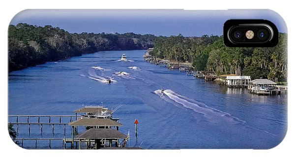 Jet Ski iPhone Case - View From The Bridge Of Lions by DigiArt Diaries by Vicky B Fuller