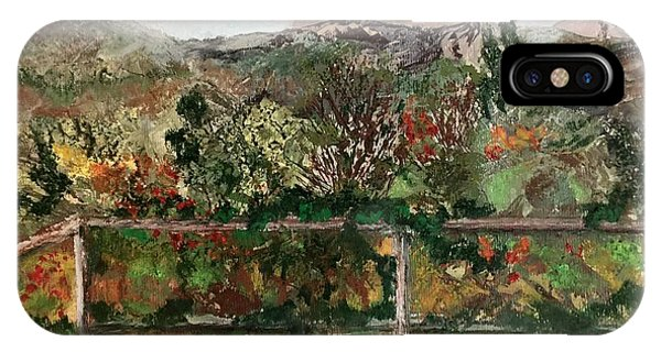 IPhone Case featuring the mixed media View From The Deck by Norma Duch
