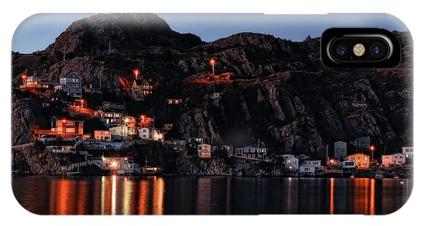 View From The Harbor St Johns Newfoundland Canada At Dusk IPhone Case