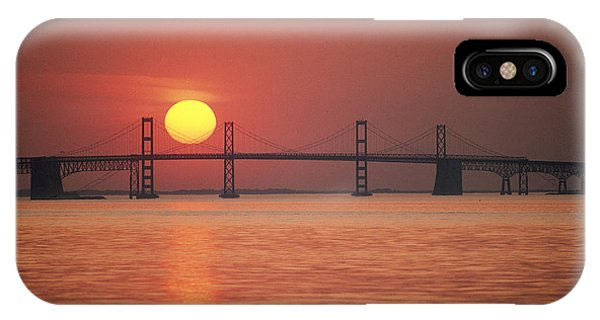Chesapeake Bay iPhone X Case - View From The Water Of The Chesapeake by Kenneth Garrett