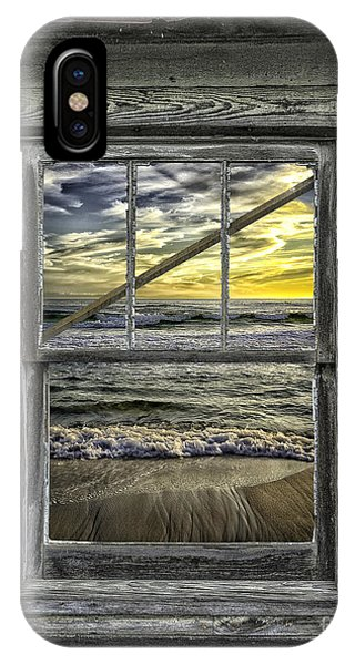 View From Weathered Beach Cottage IPhone Case