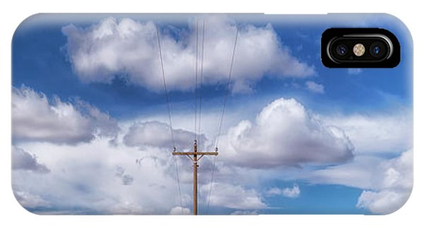 View Of A Phone Pole IPhone Case