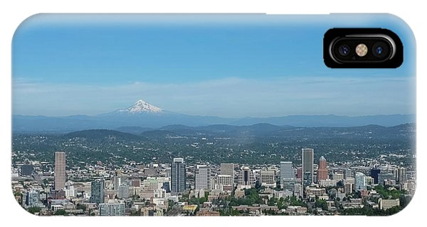 View Of Downtown Portland Oregon From Pittock Mansion IPhone Case