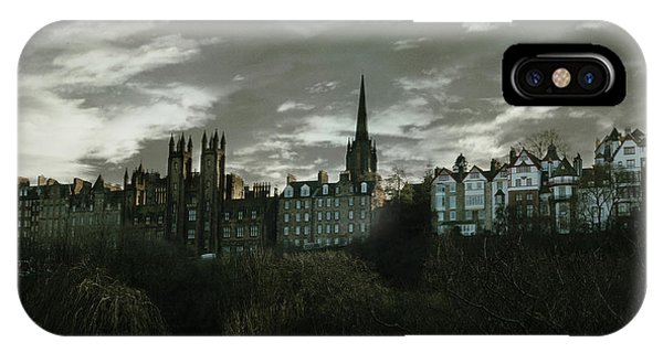 Scotland iPhone Case - view of Edinburgh II by Cambion Art