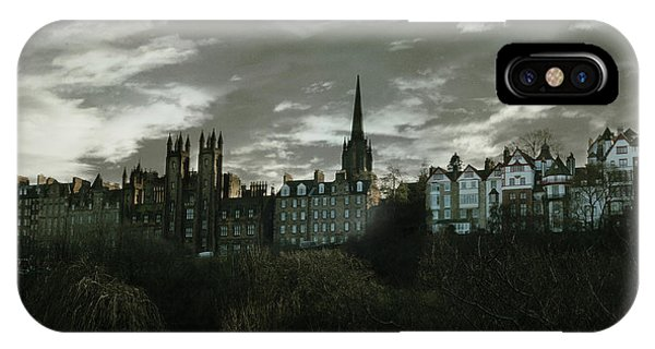 Building iPhone Case - view of Edinburgh II by Cambion Art