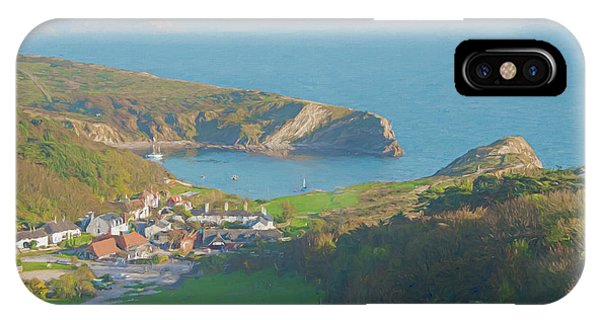 Dorset iPhone Case - View Of Lulworth Cove by Roy Pedersen