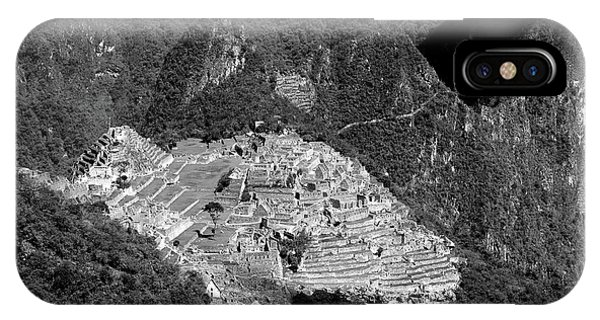 View Of Machu Picchu From The Inca Trail IPhone Case
