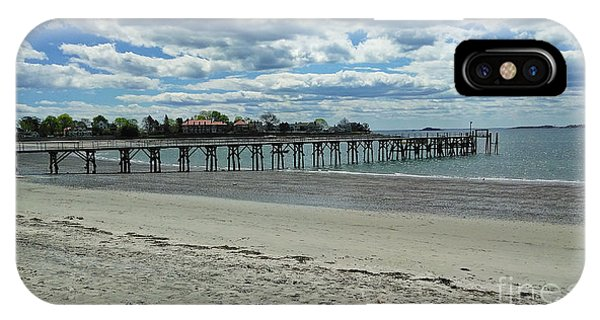 View Of Pier. Fisherman's Beach, Swampscott, Ma IPhone Case