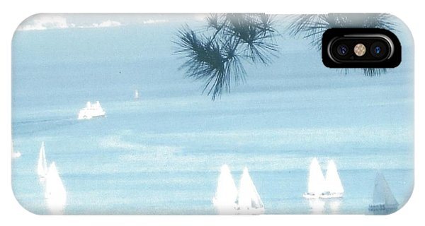 View Of Sailboats In San Francisco Bay From Our Home In Sausalito, Ca, IPhone Case