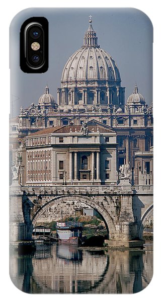 View Of St Peters From Tiber River Phone Case by Carl Purcell